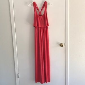 Nordstrom Rack Coral Maxi Dress